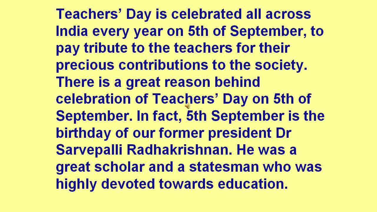 teachers day speech in english for practice by syed akheel of ix teachers day speech in english for practice by syed akheel of ix class