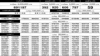 ใบตรวจหวย 1/10/62 เรียงเบอร์งวดล่าสุด 1 ตุลาคม 2562
