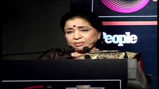 Asha Bhosle speaks at Chevrolet Global Indian Music Awards