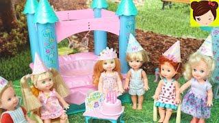 La Bebe de Princesa Anna Tiene Fiesta de Cumpleaños con Castillo Inflable y Cabina de Fotos