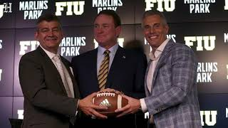 Marlins Park will host football game between  FIU and Miami Hurricanes.
