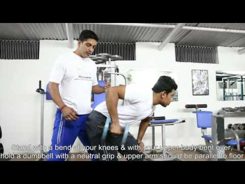 Triceps: Standing Bent Over One Arm Dumbbell Kickback, Tutorials by Rao's Health Club
