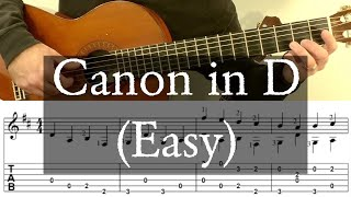 CANON IN D - Easy Arrangement - Full Tutorial with TABS - Fingerstyle Guitar