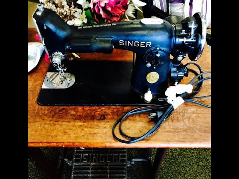 Vintage sewing machine purchase and first impressions: Singer 201 and 1200