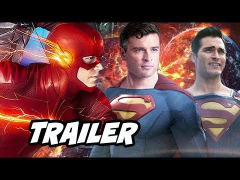 The Flash Crisis On Infinite Earths Trailer Breakdown - Superman Batman Easter Eggs Breakdown