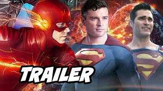 The Flash Crisis On Infinite Earths Trailer Breakdown - Superman Batman Easter Eggs Breakdown