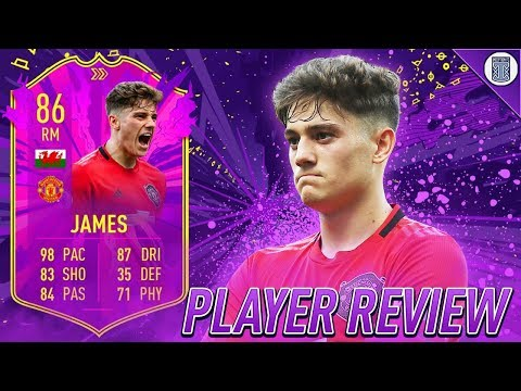 FULLY UPGRADED 86 FUTURE STAR ACADEMY DANIEL JAMES PLAYER REVIEW! - FIFA 20 ULTIMATE TEAM
