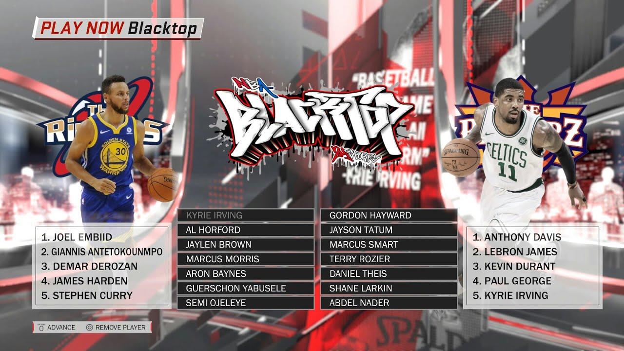 568888428 NBA 2K18 Blacktop -  UPDATED  2018 All-Star Game Preview Team LeBron vs Team  Steph