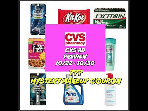 CVS AD PREVIEW FOR 10/22 - 10/30 | MYSTERY MAKEUP COUPON AGAIN!
