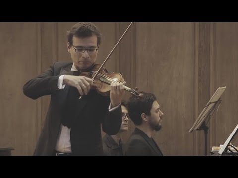 Alexandru Tomescu şi Eduard Kunz în Turneul Stradivarius Enescu Experience (making of)