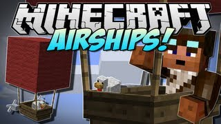 Minecraft | AIRSHIPS! (Fly the incredible Zeppelin!) | Mod Showcase [1.5.2] thumbnail