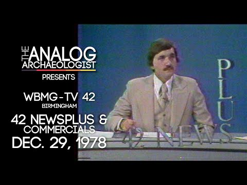 WBMG-TV 42 Birmingham, AL 42 Newsplus + Commercials Dec.29, 1978
