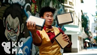 Incredible Cigar Box Juggling!