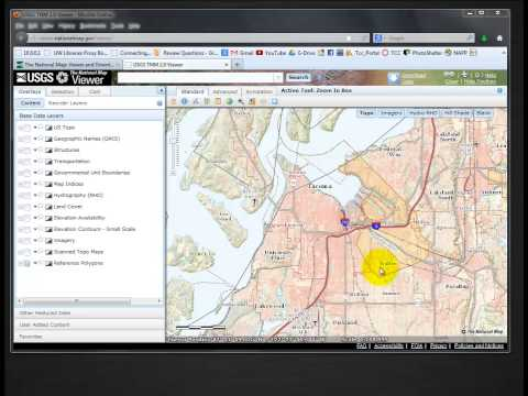 Download DEM form the USGS | a GIS Video Tutorial by Gregory Lund