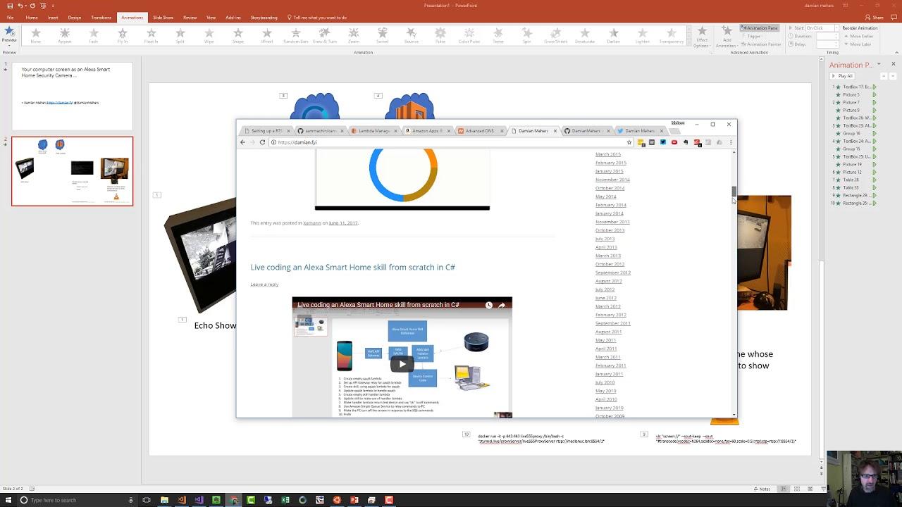 Screencast: Your computer screen as an Alexa Smart Home Security ...
