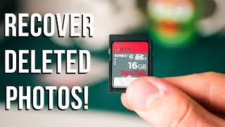 RECOVER DELETED PHOTOS from a USB or SD Card!