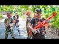 YouTube Turbo NERF WAR : Special Police SWAT Warriors Nerf Guns Fight Group Dangerous Criminals Mask Captain