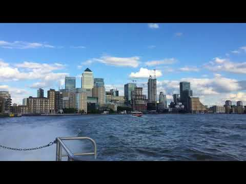 Riding the London Thames Clippers   Travel Vlog