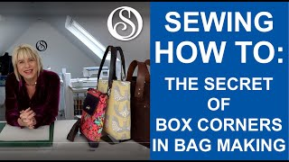 The secret of boxed corners in bag making