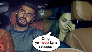 Malaika Arora's EMBARASSING Moment Getting CAUGHT With Arjun Kapoor Outside His House In Mumbai