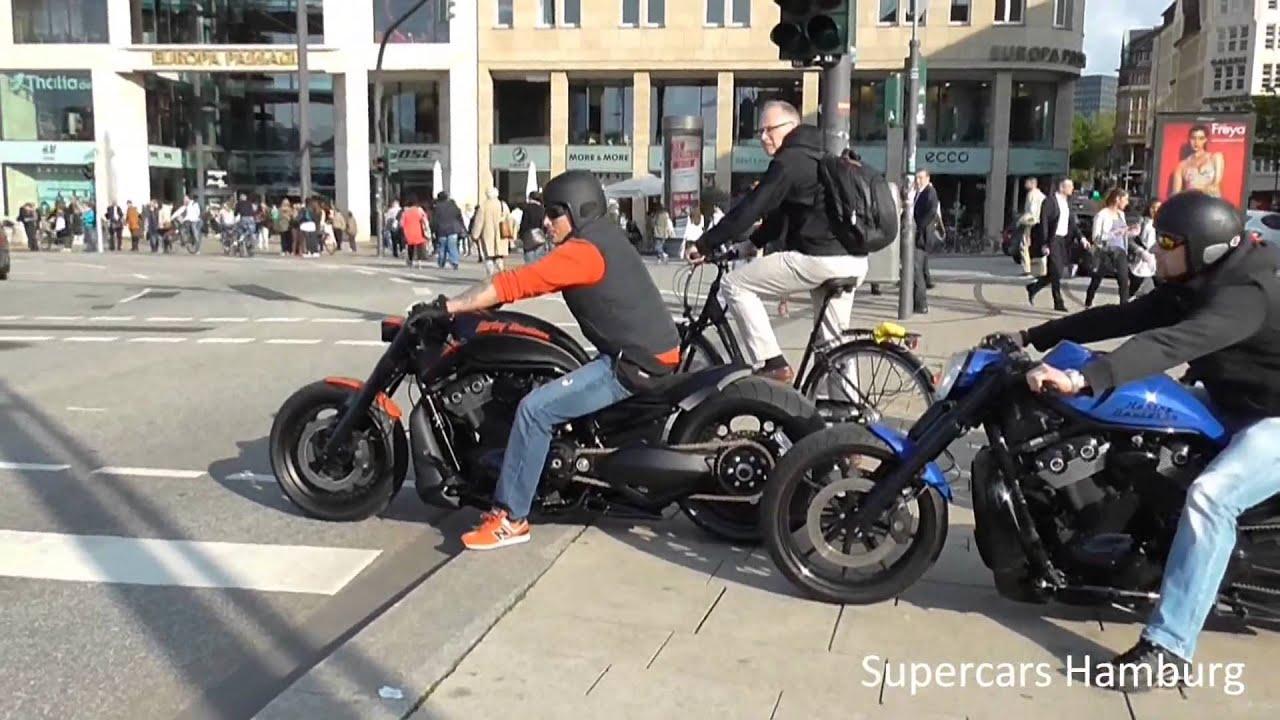 Harley Davidson, Rare Harley Davidson by Porsche Burnouts and Brutal