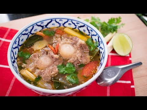 Thai Oxtail Soup Recipe ซุปหางวัว | Thai Recipes