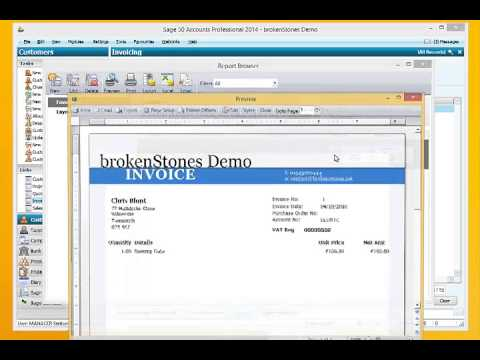Setting up Sage E-Mail Invoices - YouTube