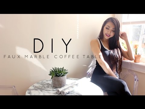 Faux Marble Coffee Table Diy