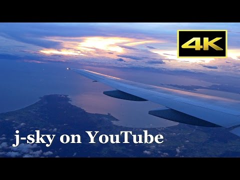 [4K] Impressive sunset! Full Flight ANA Boeing 777 from Osaka Itami to Tokyo Haneda / 夕暮れのフライト 伊丹~羽田