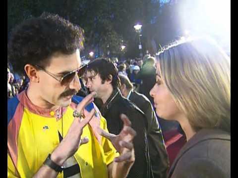 Borat (Sacha Baron Cohen) red carpet interview