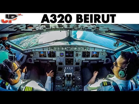 Piloting The A320 Into Beirut | Airbus Cockpit View