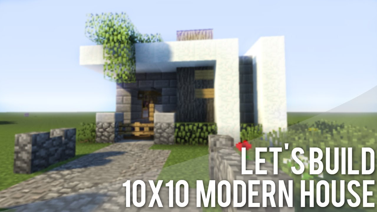 Minecraft 10x10 Modern House Tutorial YouTube