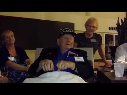 USS Indianapolis Survivor LD Cox sings his