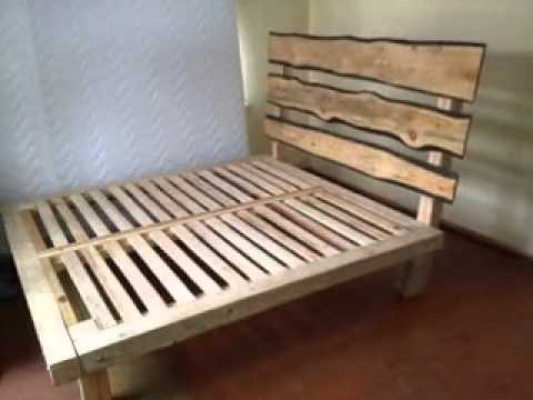 Homemade DIY bed frame ideas - YouTube