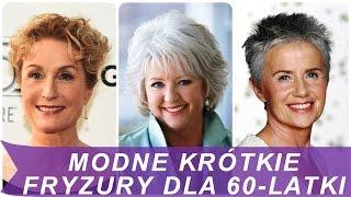 Modne krótkie fryzury dla 60 latki