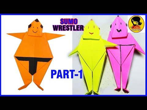 Easy Paper Origami Sumo Wrestler Part-1/How to Make a Sumo  Wrestler Tutorial by Saritha collections