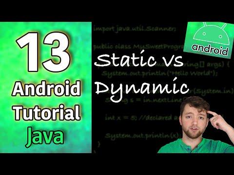 Android App Development Tutorial 13 - Static vs Dynamic | Java thumbnail