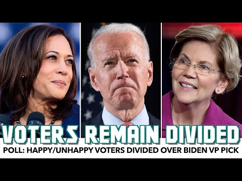 Poll: Happy/Unhappy Voters Divided Over Biden VP Pick