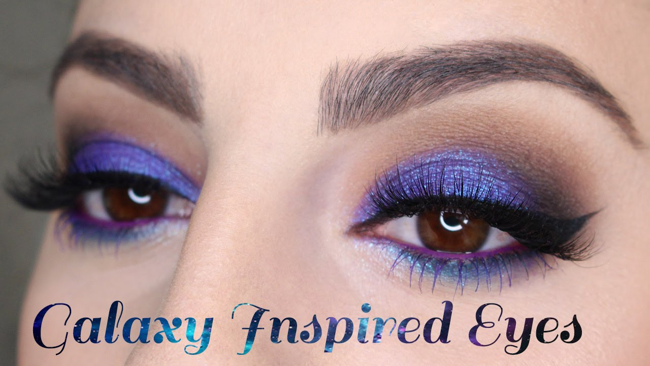 Galaxy Inspired Eye Makeup Tutorial - YouTube