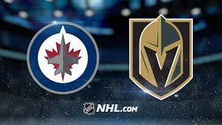 Karlsson scores two as Golden Knights top Jets, 5-2