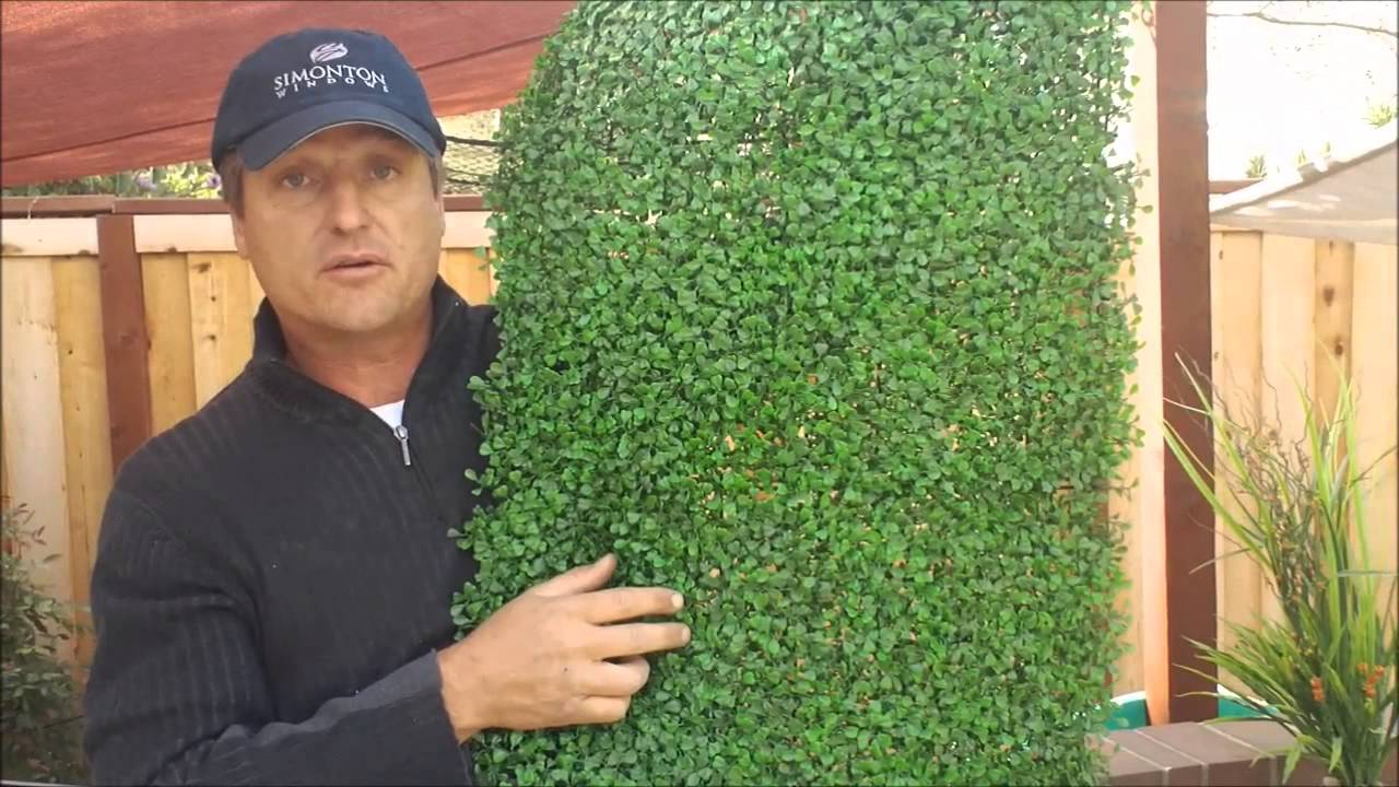 Artificial Hedge Panel From Geranium Street Youtube