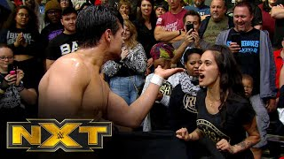 Angel Garza blows a kiss at Lio Rushs wife NXT Exclusive Nov 13 2019
