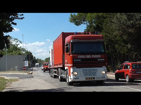 (Very Rare) DAF 95XF VVF Emergenza Terremoto / Italian Fire Brigade Earthquake Emergency