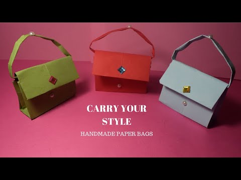 HOW TO MAKE A PAPER BAG,,, PAPER ART AND CRAFT[ART SIMPLIFIED]