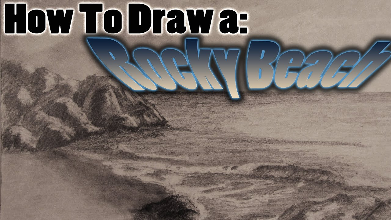 How To Draw A Realistic Rocky Beach Scene