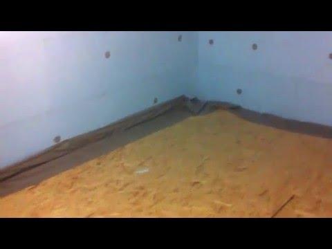 Холодильная камера #1. Строительные работы. Изоляция периметра из наборных сэндвич-панелей