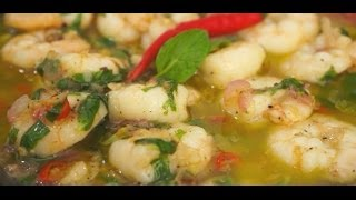 Shrimps With Lemon & Mint Butter Recipe - Prawns Chili