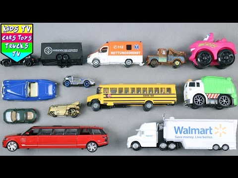Learn Vehicles For Kids Children Babies Toddlers With School Bus Car Truck | Kids TV Preschool