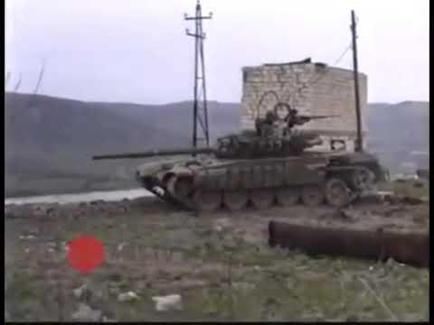 Национальный герой Альберт Агарунов абстреливает армянские позиции. Шуша 1992 г.