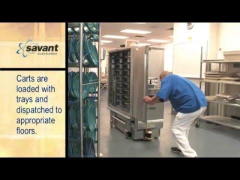 Savant Hospital Cart Transport AGV -- 'Target-Free' Navigation